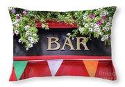 Irish Bar In Dublin Throw Pillow