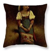 Italian Woman Throw Pillow