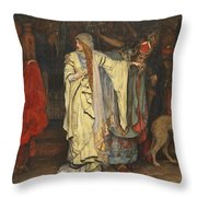 King Lear  Act I  Scene I  Throw Pillow