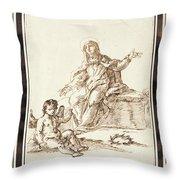 La Virgen Dolorosa   Throw Pillow