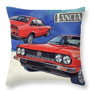Lancia Beta 1300 Throw Pillow