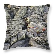 Lava Peeking At Us Throw Pillow by Jim Thompson