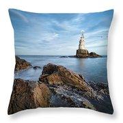 Lighthouse In Ahtopol, Bulgaria Throw Pillow