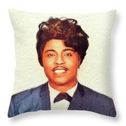 Little Richard, Music Legend Throw Pillow