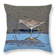 Long-billed Dowitcher Throw Pillow