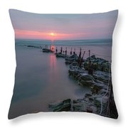 Longhoughton Beach - England Throw Pillow