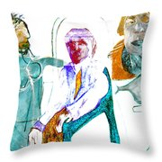 Looking After The King Throw Pillow