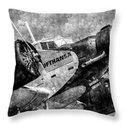 Lufthansa Junkers Ju 52 Vintage Throw Pillow