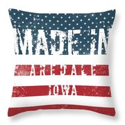 Made In Aredale, Iowa Throw Pillow
