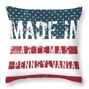 Made In Artemas, Pennsylvania Throw Pillow