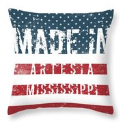 Made In Artesia, Mississippi Throw Pillow