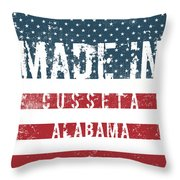 Made In Cusseta, Alabama Throw Pillow