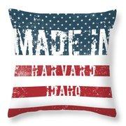 Made In Harvard, Idaho Throw Pillow