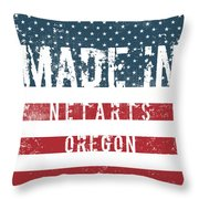 Made In Netarts, Oregon Throw Pillow
