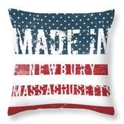 Made In Newbury, Massachusetts Throw Pillow