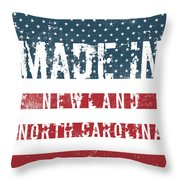 Made In Newland, North Carolina Throw Pillow