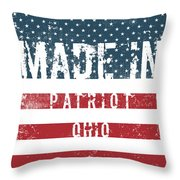 Made In Patriot, Ohio Throw Pillow