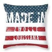 Made In Zwolle, Louisiana Throw Pillow