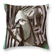 Man And A Bird Throw Pillow