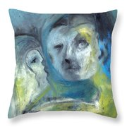 Man And Bird Throw Pillow