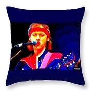 Mark Knopfler Throw Pillow