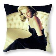 Martha Hyer, Vintage Actress Throw Pillow