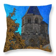 Medieval Bell Tower 6 Throw Pillow