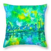 Memphis Green Throw Pillow