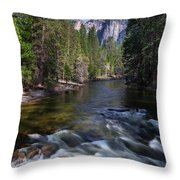 Merced River, Yosemite National Park Throw Pillow