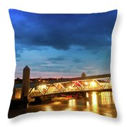 Mersey Ferry Floating Landing Stage Throw Pillow