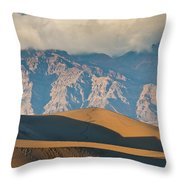 Mesquite Flat Sand Dunes At Sunset Throw Pillow