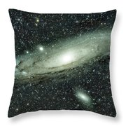 Messier 31, Andromeda Galaxy Throw Pillow