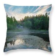Midsummer's Morning Throw Pillow