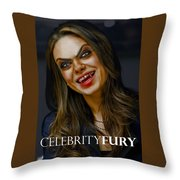 Mila Kunis Throw Pillow