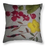 Moms Hand Embroidery Throw Pillow