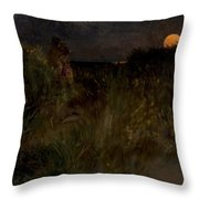 Moonrise Over The Dunes  Throw Pillow