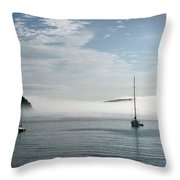 Morning Mist On Frenchman's Bay Throw Pillow