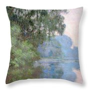 Morning On The Seine Near Giverny, 1897 Throw Pillow