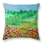 Mountain Meadow Throw Pillow by Kim Nelson