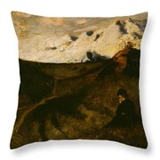 Mountains Near Innsbruck  Throw Pillow