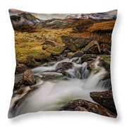 Mountains North Wales Throw Pillow