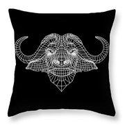 Night Buffalo Throw Pillow