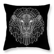 Night Lion Throw Pillow