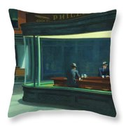 Nighthawks, 1942  Throw Pillow