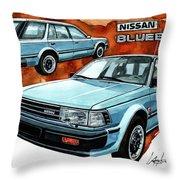 Nissan Bluebird Sw Throw Pillow