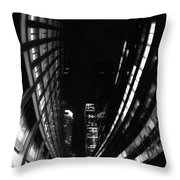 Nyc In Black And White Vii Throw Pillow