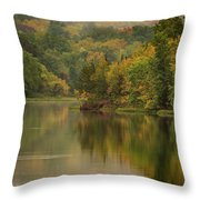 October Reflections Oct 2nd Throw Pillow by Jeff Phillippi