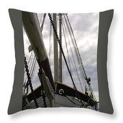 Old Viking Vessel Throw Pillow