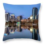 Orlando Skyline Throw Pillow