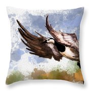 Over The Marsh  Throw Pillow